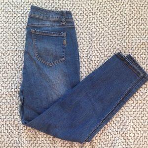 • 1822 denim • medium wash ankle skinny jeans